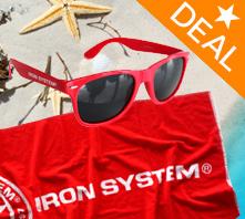 HOT IRON® Beachdeal - Handtuch & Sonnenbrille